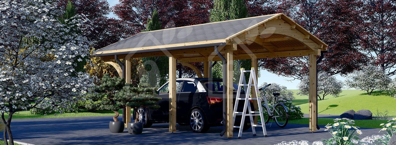 Cochera de madera BETSY, 3.6x6 m, 21.6 m² visualization 4