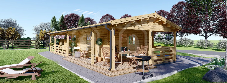 Casa de madera para jardín TOSCANA (66 mm), 50 m² visualization 1