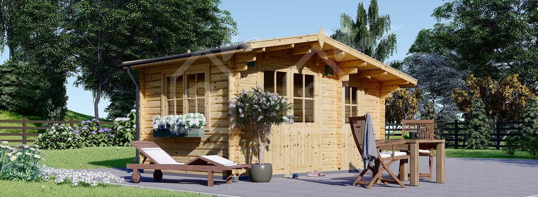 Caseta de madera de jardín BENINGTON (34 mm), 4.5x3 m, 13 m² visualization 1
