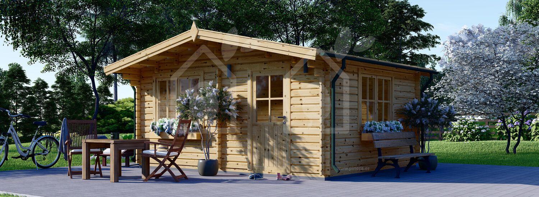 Caseta de madera DREUX (44 mm), 5x4 m, 20 m² visualization 1