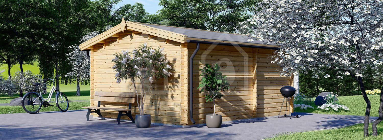 Caseta de jardín OSLO 19.5 m² 34 mm visualization 4