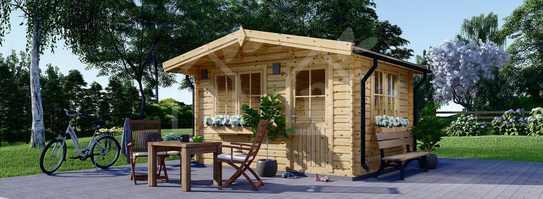 Caseta de madera para jardín DREUX (66 mm), 4x4 m, 16 m² visualization 1