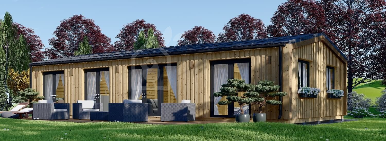 Casa de madera para vivir NICOLE (44 mm + revestimiento, aislada PLUS), 78 m² visualization 1