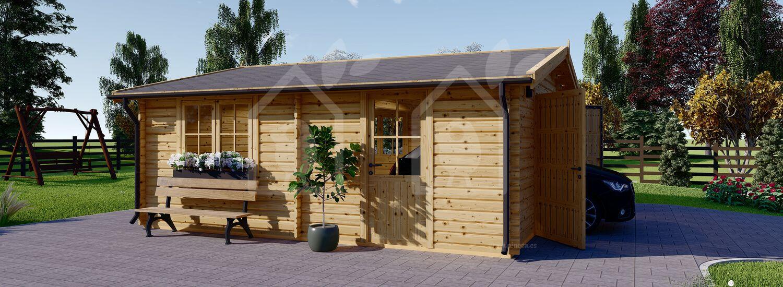 Garaje de madera 600x600 44 mm, 36 m² visualization 5