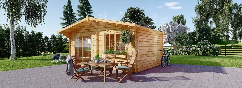 Caseta de jardín WISSOUS 25 m² (5x5) 34 mm visualization 2
