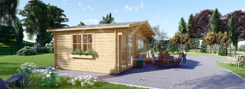 Caseta de jardín WISSOUS 19.9 m² (5x4) 34 mm visualization 4