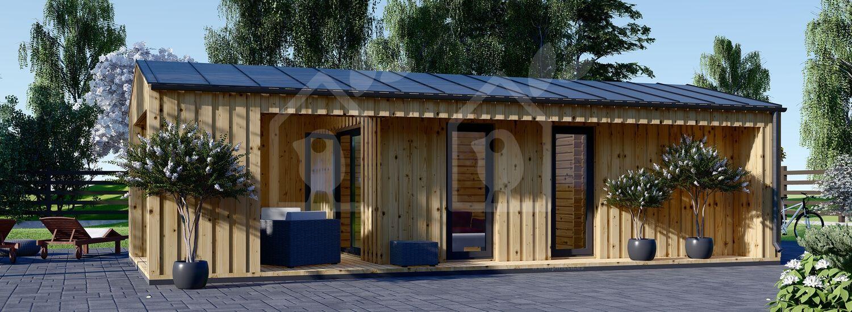 La casa ANNA Scandinavia 44 mm + revestimiento 20 mm, 37 m² visualization 2