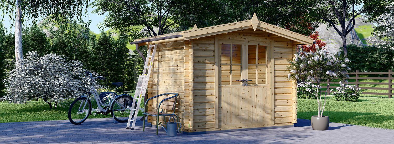 Caseta de jardín de madera MINI (28 mm), 3x2 m, 6 m² visualization 1