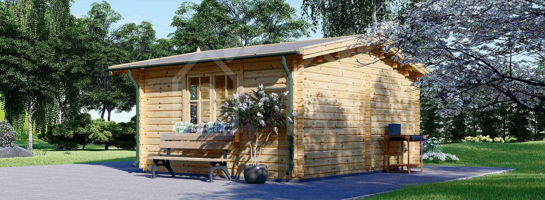 Caseta de jardín DREUX 19.9 m² (5x4) 44 mm visualization 3