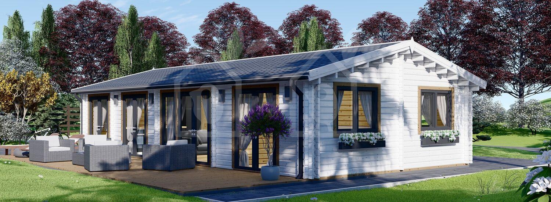Casa de madera para vivir AGNES (44+44 mm, aislada PLUS), 75 m² visualization 1