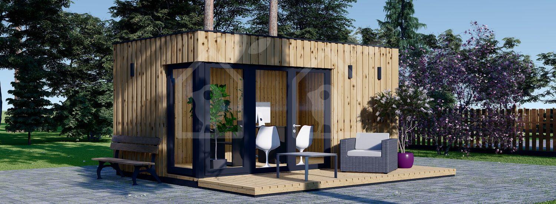 Oficina prefabricada de madera PREMIUM (Aislada, peneles SIP), 5x3 m, 15 m² visualization 1