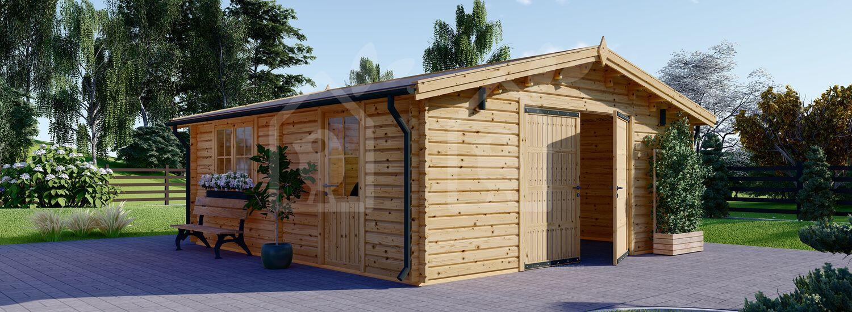 Garaje de madera 600x600 44 mm, 36 m² visualization 2