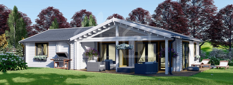 Casa de madera ADELE (44+44 mm), 68 m² visualization 1