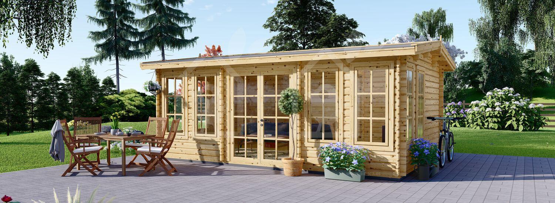 Caseta de jardín de madera DEVON (44 mm), 6x4 m, 24 m² visualization 1