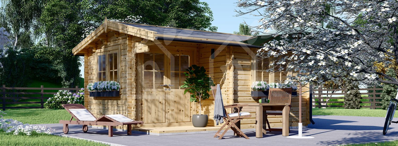 Caseta de jardín de madera OSLO (Aislada, 44+44 mm), 5x4 m, 20 m² visualization 1