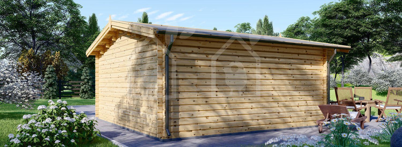 Caseta de jardin DREUX 25 m² (5x5) 44 mm visualization 4