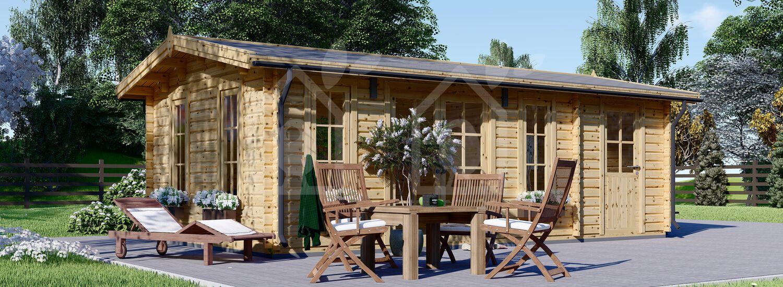 Caseta de jardín de madera LEA (44 mm), 7x4 m, 28 m² visualization 1