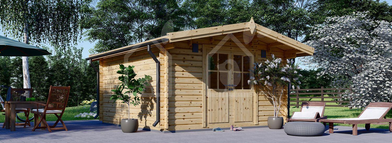Caseta de jardín de madera PALMA (34 mm), 4x4 m, 16 m² visualization 1