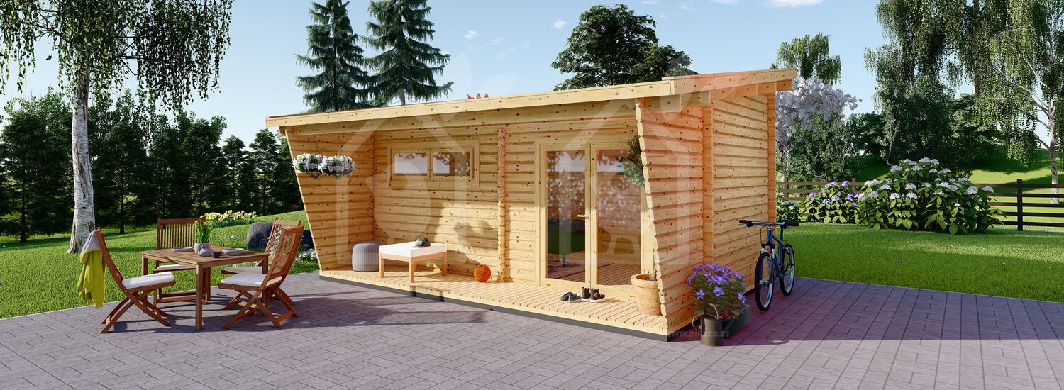 Caseta de madera HORTA (44 mm), 6x3 m, 18 m² visualization 1