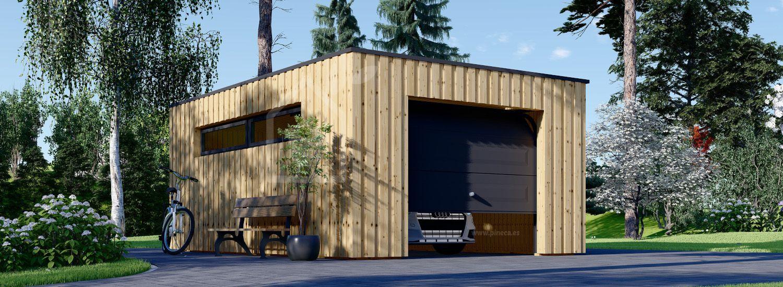 Garaje de madera de techo plano STELA F (estructura de madera), 3.2x5.2 m, 16.6 m² visualization 1