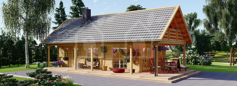 Casa de madera AURA (66 mm), 72 m² visualization 1