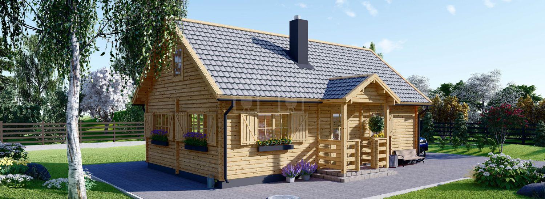 Casa de madera EMMA (44+44 mm), 70 m² visualization 1