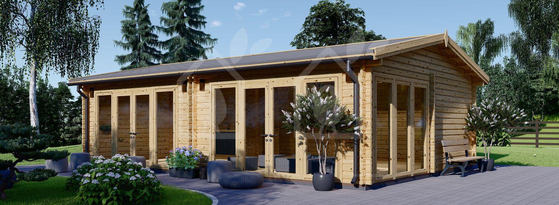 Casa de madera para jardín MARINA (Aislada PLUS, 44+44 mm), 8x6 m, 48 m² visualization 1