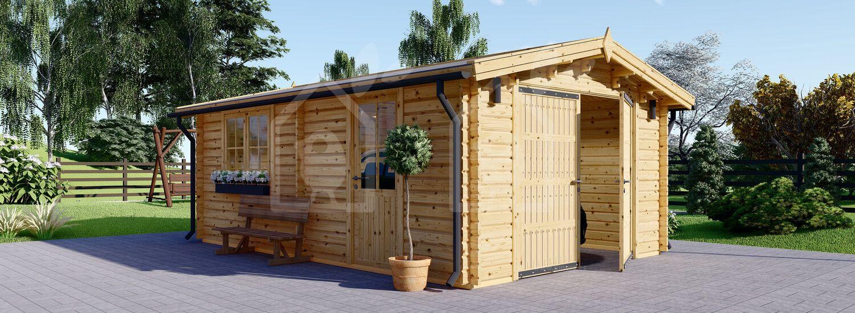 Garaje de madera (44 mm), 3.6x5.3 m, 20 m² visualization 1