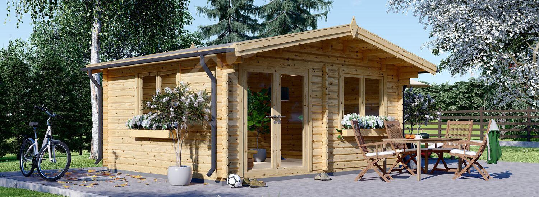Caseta de jardín de madera WISSOUS (44 mm), 5x5 m, 25 m² visualization 1