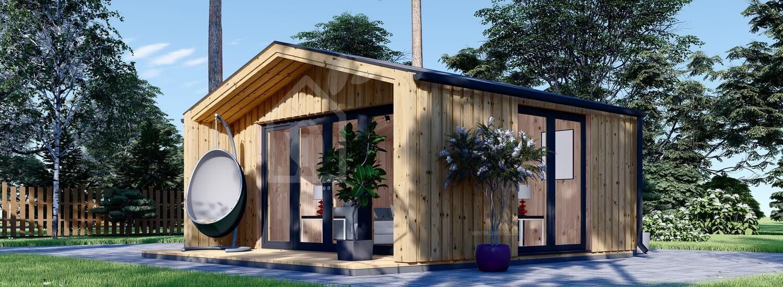 Caseta de madera para jardín PIA (estructura de madera), 5.2 x 4.9 m, 18 m² visualization 1