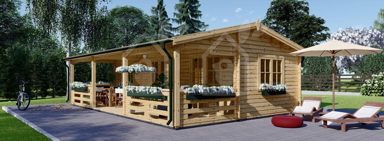 Casetta de madera habitable AMELIA (66 mm), 54 m² visualization 1