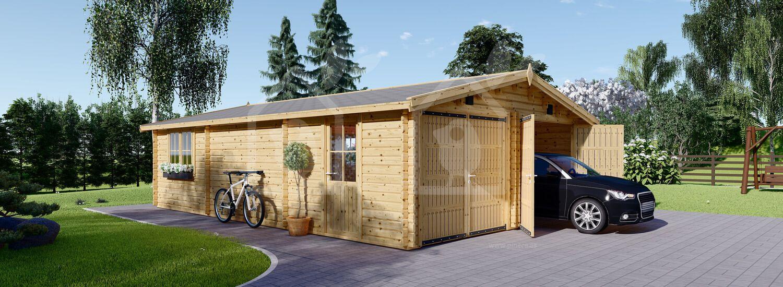 Garaje de madera (44 mm), 6x9 m, 54 m² visualization 1