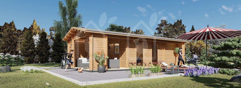 Casa de madera para jardín ANNA CLASSIC (44 mm), 37 m² visualization 1