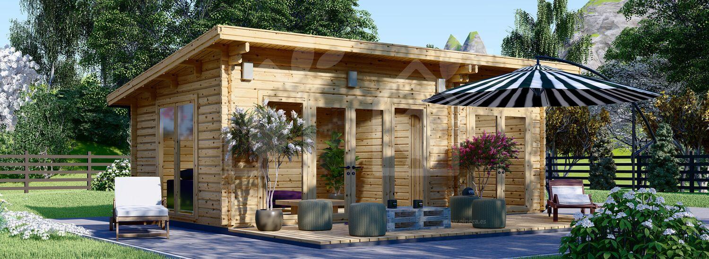 Casa de madera para jardín MAJA (44 mm), 7.5x4 m, 30 m² visualization 1