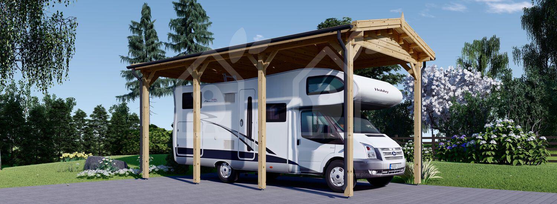 Cochera de madera CAMPING CAR 3.5x7 m, 24,5 m² visualization 1