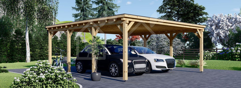 Cochera de madera double MODERN DOUBLE, 6x6 m, 36 m² visualization 1