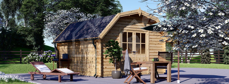 Caseta de jardín de madera ORLANDO (34 mm), 4x4 m, 16 m² visualization 1