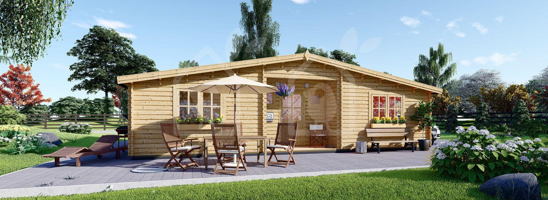 Casa de madera FILL (44 mm), 60 m² visualization 1