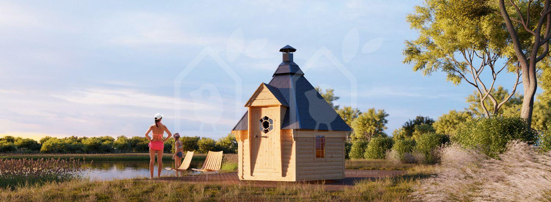 Sauna de jardín 7 m² visualization 1