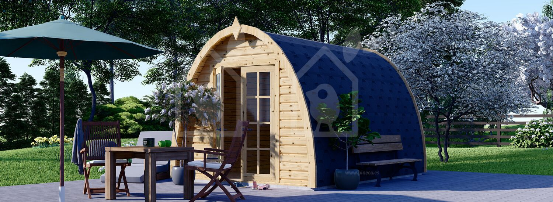 Caseta de jardín de madera BRETA (28 mm), 3x4 m, 12 m² visualization 1