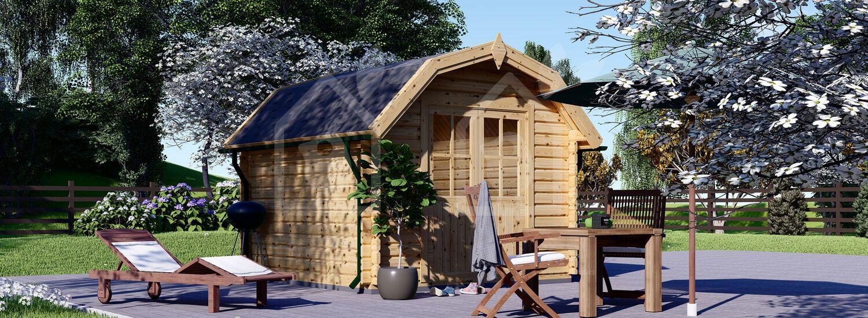 Caseta de jardín de madera ORLANDO (34 mm), 3x3 m, 9 m² visualization 1