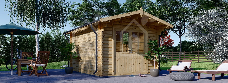 Caseta de jardín de madera PETER (34 mm), 3x3 m, 9 m² visualization 1