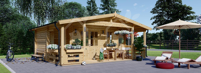 Caseta de madera PARIS (44 mm), 21 m² visualization 1