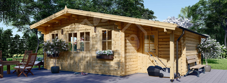 Cabaña de madera para jardín CLARA (66 mm), 28 m² visualization 1