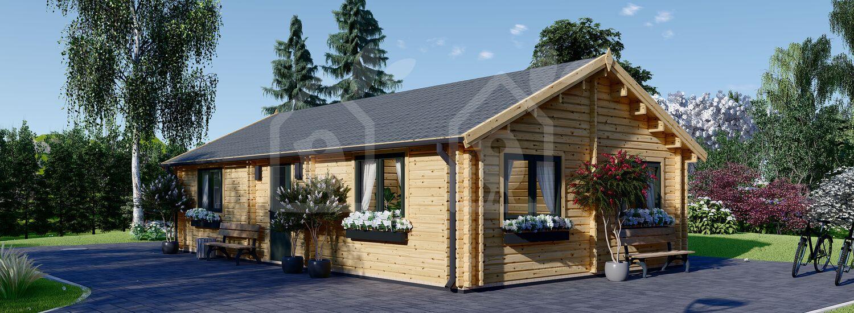 Casa de madera para vivir GRETA (Aislada PLUS, 44+44 mm), 54 m² visualization 1