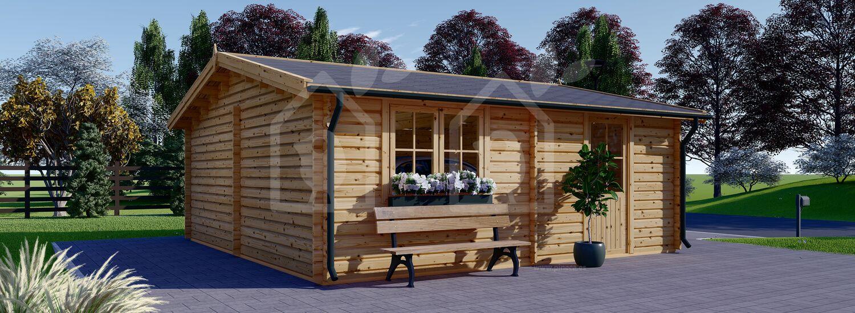 Garaje de madera 600x600 44 mm, 36 m² visualization 6