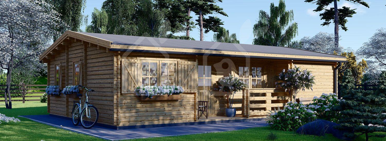 Casa de madera UZES (Aislada, 44+44 mm), 70 m² visualization 1