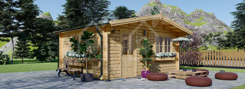 Caseta de jardín de madera NINA (44 mm), 6x6 m, 36 m² visualization 1