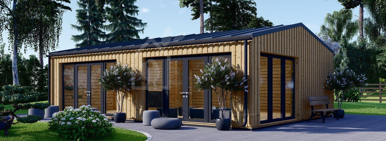 Casa de madera MARINA Modern (44 mm + revestimiento, aislada), 48 m² visualization 1