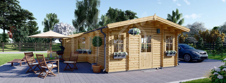 Casa de madera para jardín DIJON 44 mm, 43 m² visualization 1